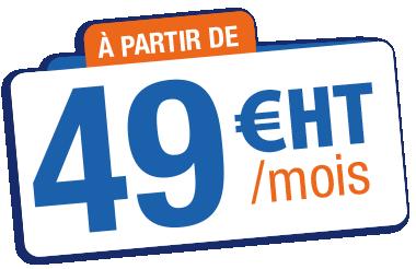 A partir de 49 euros HT